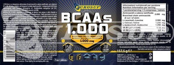 Bcaas 1000 150 tablet for 1000 150